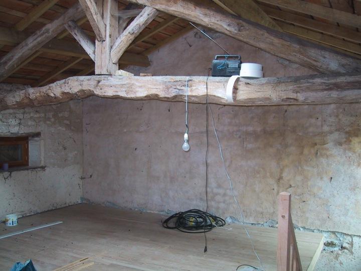 Upper floor under construction, 2001